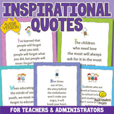 INSPIRATIONAL QUOTES POSTERS for Teachers, School Counselo