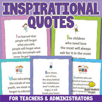 Inspirational Quotes Posters for Teachers & Parents - US Letter Format