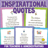 Inspirational Quotes Posters for Teachers & Parents - US L