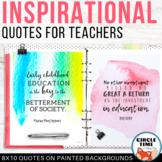 Inspirational Quotes Printable Watercolor Classroom Decor, Teacher Quotes