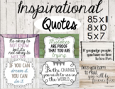 Inspirational Quotes: Rustic Posters