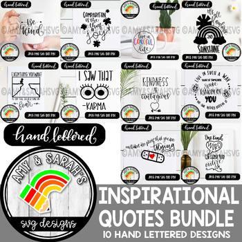 Inspirational Quotes 1 SVG Designs Big Bundle
