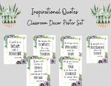 Inspirational Quotes/ Succulent Poster Set/ Classroom Decor