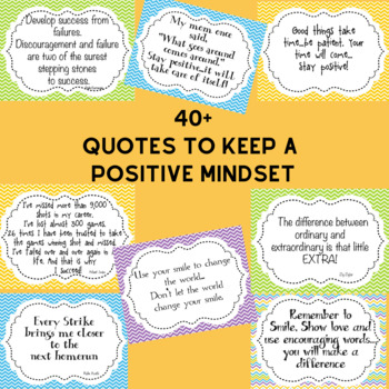 Positive Mindset Quotes Pastel Colors to Use in your Classroom or Office