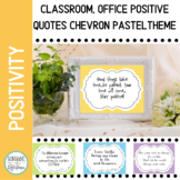 Positive Mindset Quotes Pastel for your Classroom or Office