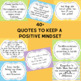 Positive Mindset Quotes Pastel Colors to Use in your Class