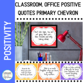 Positive Mindset Quotes Primary Colors to Use in your Clas