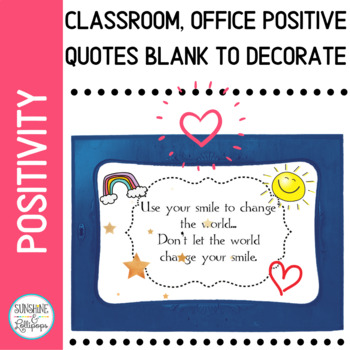 Positive Mindset Quotes with White Background  to Use in Classroom or Office