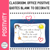 Positive Mindset Quotes for Classroom or Office White Background