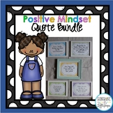 Positive Mindset Quotes BUNDLE for Classroom or Office