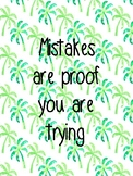 Inspirational Quotes - Tropical/Watercolour