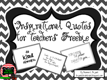 Inspirational Quotes and Typography for Teachers