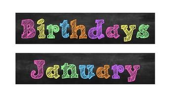 Birthdays! (Chalkboard Theme)