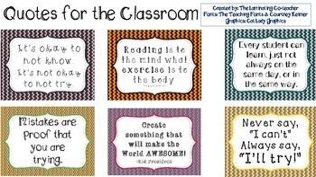 Inspirational Quotes for the Classroom!
