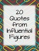 Inspirational Quotes from Influential & Relevant Figures
