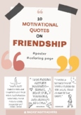 Inspirational Quotes poster/ Coloring pages - Friendship