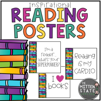 Inspirational Reading Quote Posters By The Mitten State Teacher Tpt