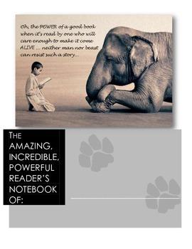 Inspirational Reader's Notebook or Journal