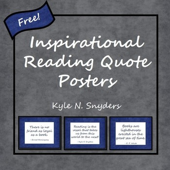 Inspirational Reading Quote Posters - Freebie