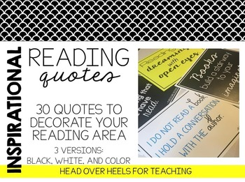 Inspirational Reading Quotes Posters-Decorate & Inspire!