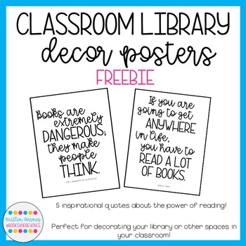 Inspirational Reading Quotes Posters: Decorate your classroom!