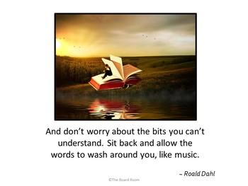 Inspirational Roald Dahl Poster