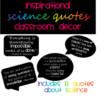 Inspirational Science Quotes Posters Classroom Decor
