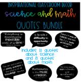 Inspirational Science and Math Quotes Posters BUNDLE