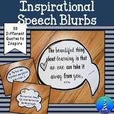 Inspirational Signs or Speech Bubble Posters