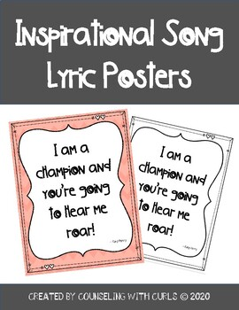 Inspirational Song Lyric Posters