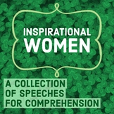 Inspirational Women: Speech Comprehension COMPLETE Set -Women's History Month