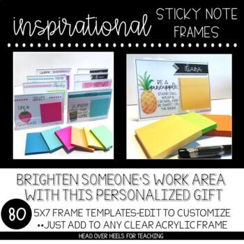 Inspirational Sticky Note Frames (5x7)