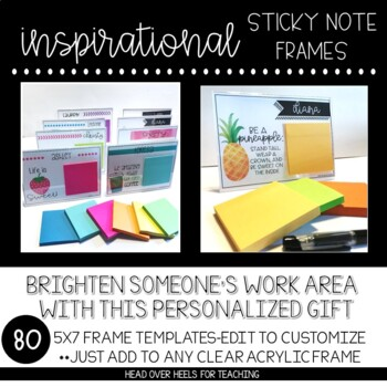 Inspirational Sticky Note Frames (7x5)