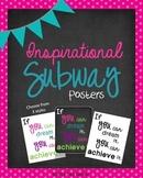 Inspirational Subway Posters {Freebie}