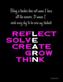 Inspirational Teacher Poster