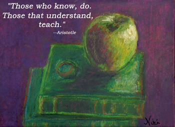 Inspirational Teacher Quote Poster Aristotle Those Who Know