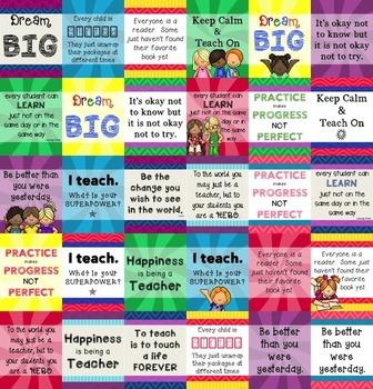 Teacher Appreciation - Inspirational Quotes for 8x10 frames