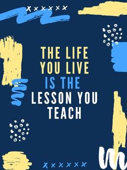 Inspirational Teaching Poster