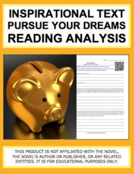 Inspirational Text to Practice Characterization, Main Idea & Author's Purpose