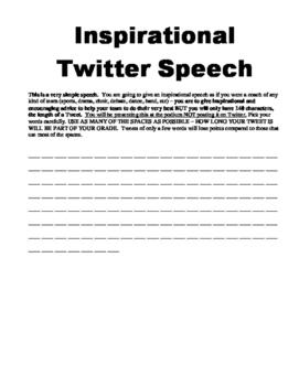 Inspirational Twitter Speech