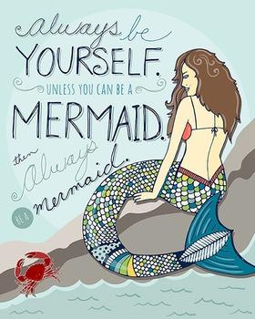 Inspirational Wall Art - Printable Art - Mermaid - Motivational - DIY Print