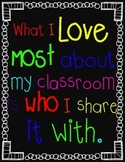 """Inspirational """"What I Love Most..."""" Poster"""