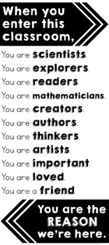 """Inspirational """"When You Enter This Classroom..."""" Welcome Poster Set FREEBIE"""