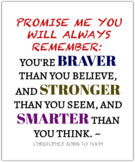 Inspirational Winnie The Pooh (Poster)