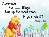 Inspirational Winnie the Pooh & Piglet poster- great classroom decoration