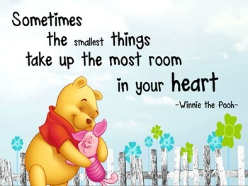 Inspirational Winnie the Pooh & Piglet poster- great class