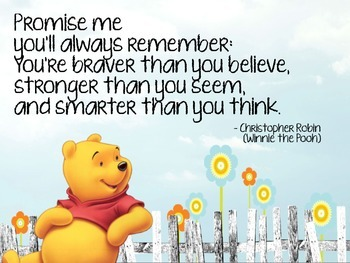 Inspirational Winnie the Pooh poster- classroom decoration