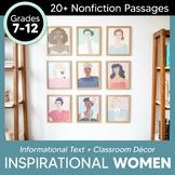 Inspirational Women Journal Classroom Decor: Nonfiction Text Activities+ DIGITAL