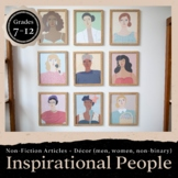 Inspirational Women, Men & Non-Binary Journal & Classroom Decor: GROWING BUNDLE