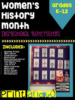 Inspirational Women in History Posters (Women's History Month: March)